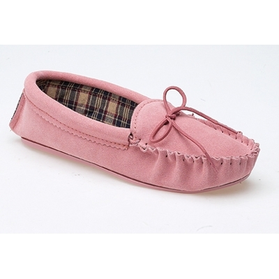 Ladies Amanda Moccasin Slippers, LS409PK